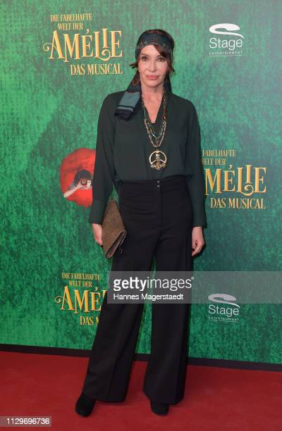 "Anouschka Renzi attends the premiere of the musical ""Die fabelhafte Welt der Amelie"" at Werk7 on February 14, 2019 in Munich, Germany."