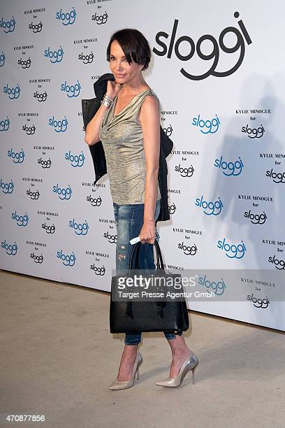 Anouschka Renzi attends the presentation of the 'Kylie Minogue For Sloggi' collection at the Sloggi Club on April 23 2015 in Berlin Germany