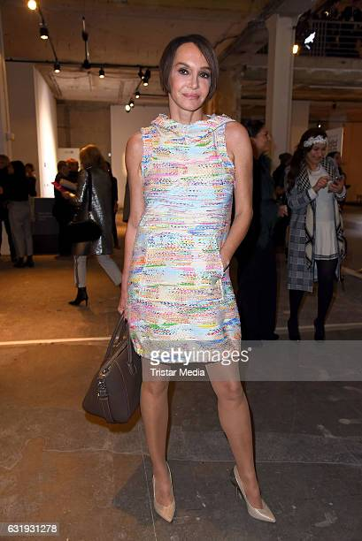 Anouschka Renzi attends the Riani show during the Mercedes-Benz Fashion Week Berlin A/W 2017 at Kaufhaus Jandorf on January 17, 2017 in Berlin,...