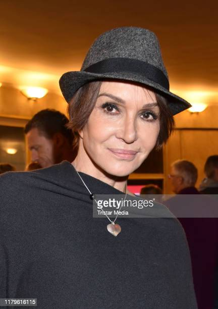 "Anouschka Renzi attends the Rio Reiser premiere ""Mein Name Ist Mensch"" at Komoedie am Kurfuerstendamm at Schiller-Theater on October 6, 2019 in..."