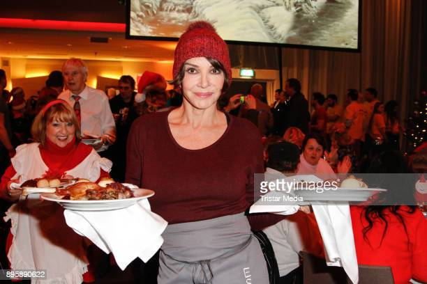 Anouschka Renzi during the Frank Zander Charity Dinner For Homeless on December 19, 2017 in Berlin, Germany.