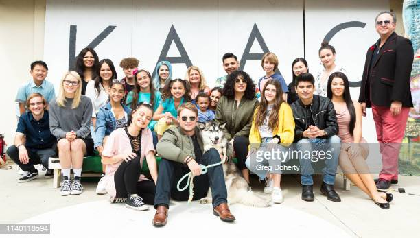Anoush Sadegh from MercedesBenz of Encino joins Lou Wegner with Luna the Husky Laci Mercede and other attendees at the Kids Against Animal Cruelty...