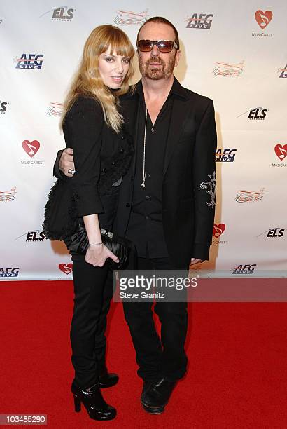 Anoushka Fisz and musician Dave Stewart arrive at the 2009 MusiCares Person of the Year Tribute to Neil Diamond at the Los Angeles Convention Center...