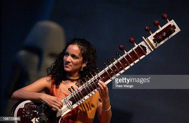 Anoushka Shankar during Anoushka Shankar Grammy nominated sitarist and daughter of ledgendary sitarist Ravi Shankar performs solo in New York City's...