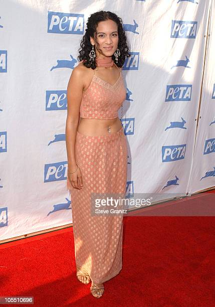 Anoushka Shankar during PETA's 25th Anniversary Gala and Humanitarian Awards Show Red Carpet at Paramount Pictures in Hollywood California United...