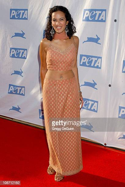Anoushka Shankar during PETA's 25th Anniversary Gala and Humanitarian Awards Show Arrivals at Paramount Studios in Hollywood California United States