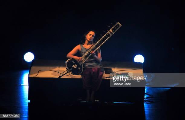 Anoushka Shankar performs at the Edinburgh International Festival at Usher Hall on August 16, 2017 in Edinburgh, Scotland.
