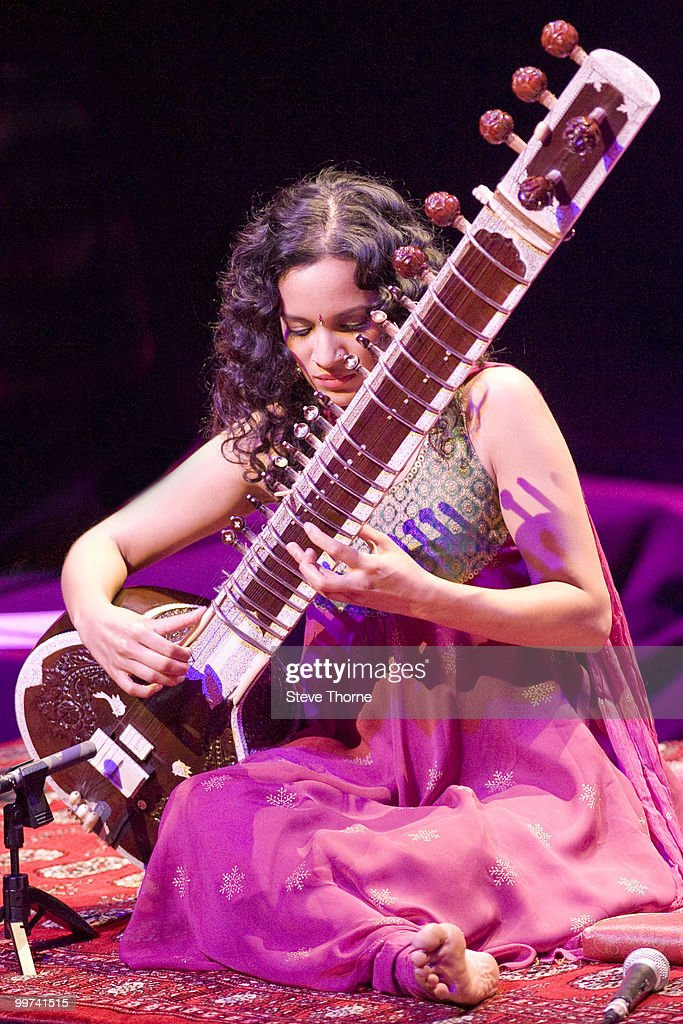 Anoushka Shankar performs on stage at Birmingham Town Hall on May 17, 2010 in Birmingham, England.