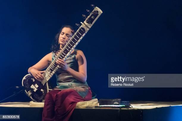 Anoushka Shankar performs on stage at Usher Hall as part of the 70th Edinburgh International Festival on August 16 2017 in Edinburgh Scotland