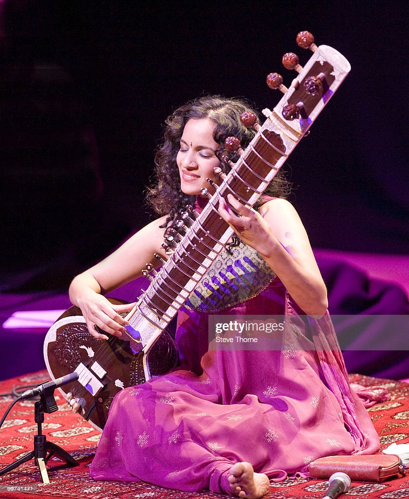 Anoushka Shankar performs on stage during her Anoushka Shankar Project 2010 Concert Tour at Birmingham Town Hall on May 17, 2010 in Birmingham, England.