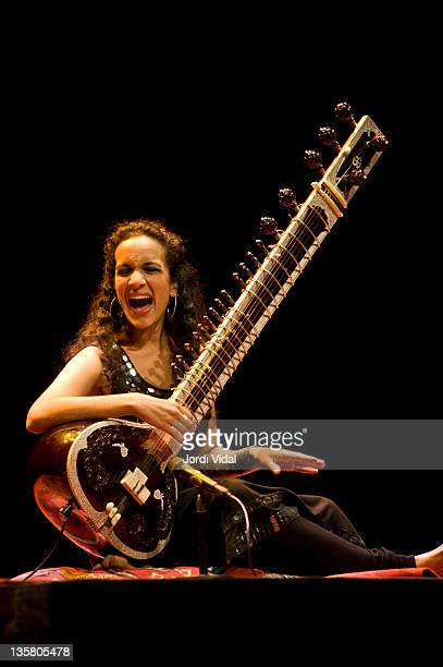 Anoushka Shankar performs on stage during the Festival del Millenni at Palau De La Musica on December 14 2011 in Barcelona Spain