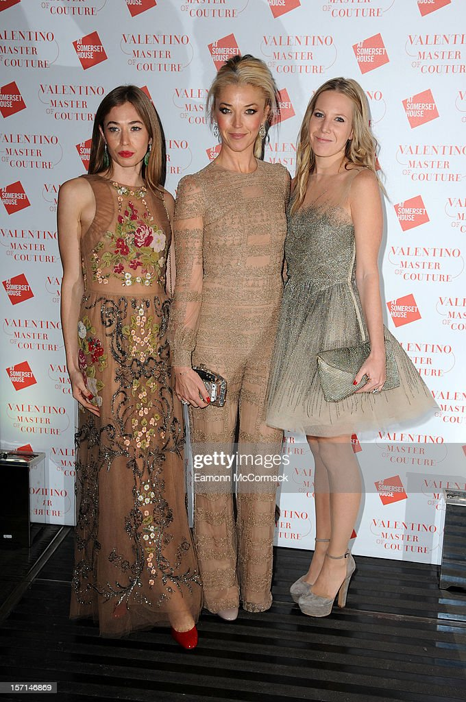 Anouska Beckwith, Tamara Beckwith and Alice Naylor-Leyland attend the VIP view of Valentino: Master of Couture at Embankment Gallery on November 28, 2012 in London, England.