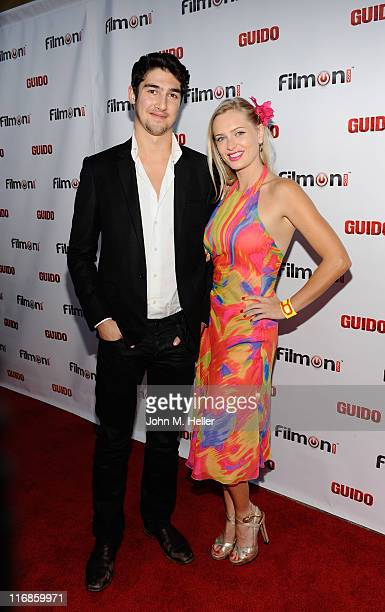 Anouska De Georgiou and actor Anthoony Garland attend the premiere of Guido at the Writers Guild Theatre on June 17 2011 in Los Angeles California