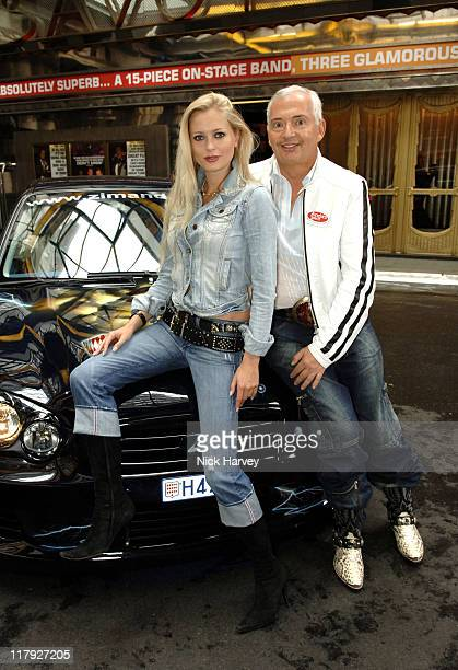 Anouska De Georgiou and Henri Zimand during Cannonball 8000 Photocall at The Savoy in London Great Britain