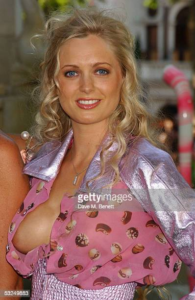Anouska De Georgiou arrives at the UK Premiere of 'Charlie And The Chocolate Factory' at the Odeon Leicester Square on July 17 2005 in London England