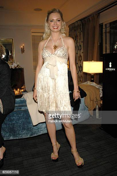 Anouska de Georgiou attends de GRISOGONO and Fawaz Gruosi host a Private Oscar Cocktail Party at Chateau Marmont on February 19 2008 in Los Angeles CA