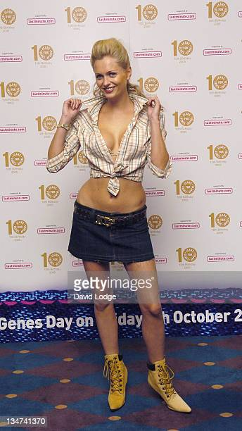 Anouska De Georgiou during From High Street to Haute Couture Jeans for Genes Fashion Show Arrivals at InterContinental Hotel in London Great Britain