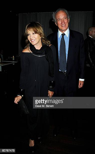 Anouska Hempel and Lord Weinberg attend the afterparty following the gala performance of 'Rain Man' at the Trafalgar Hotel on September 10 2008 in...