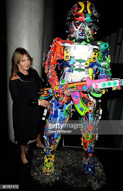 Anouska Hempel attends the afterparty following the gala performance of 'Rain Man' at the Trafalgar Hotel on September 10 2008 in London England
