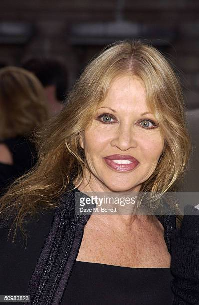 Anouska Hempel attends the Around The World party at The Royal Academy on June 21 2004 in London David Tang hosts the gala to help raise over 100k...