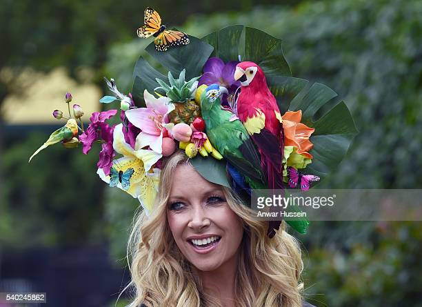 Anouska Lancaster attends Day 1 of Royal Ascot on June 14 2016 in Ascot England