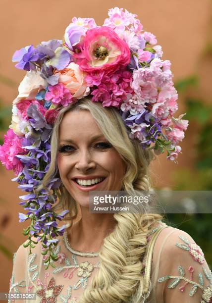 Anouska Lancaster attends day one of Royal Ascot on June 18, 2019 in Ascot, England.