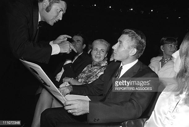 anquetil In The First Time Of Dalida At Olympia In Paris France On October 07 1967 Jeanine and Jacques Anquetil