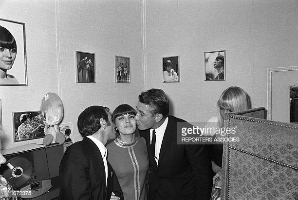 anquetil In The First Time Of Dalida At Olympia In Paris France On October 07 1967Charles Aznavour Mireille Mathieu Jacques Anquetil