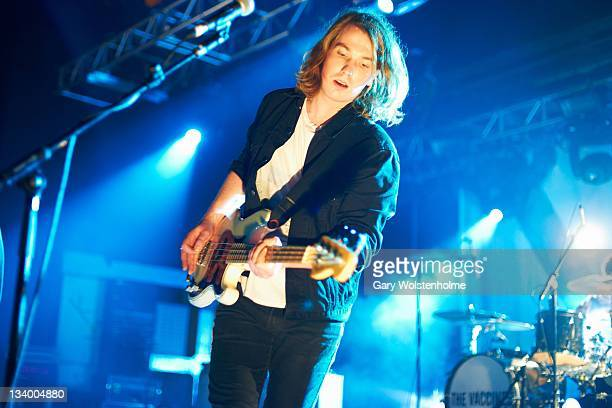 Anri Hjorvar of The Vaccines performs on stage at O2 Academy on November 23 2011 in Sheffield United Kingdom
