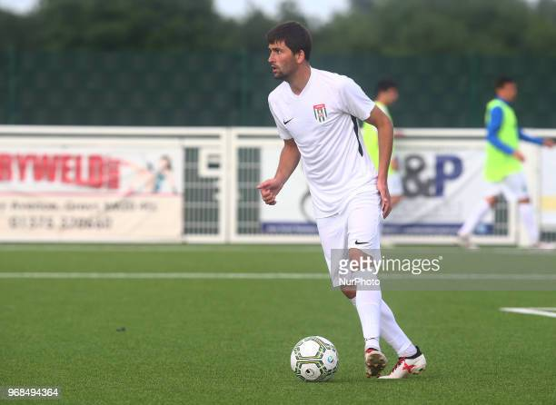 Anri Khagba of Abkhazia during Conifa Paddy Power World Football Cup 2018 Quarterfinal C for Places 916 match between Tamil Eelam against Abkhazia at...