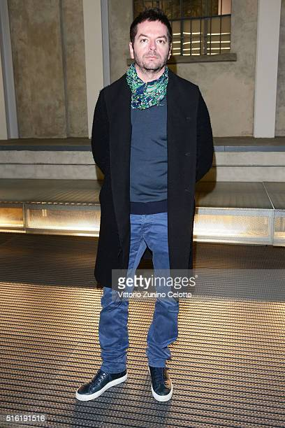 Anri Sala attends the opening of 'Thomas Demand L'Image Volee' at Fondazione Prada on March 17 2016 in Milan Italy