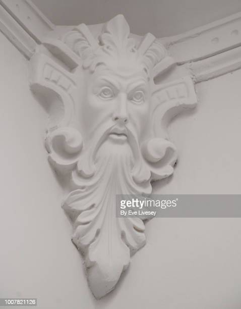 anrique plaster wall cornice - architectural cornice stock photos and pictures