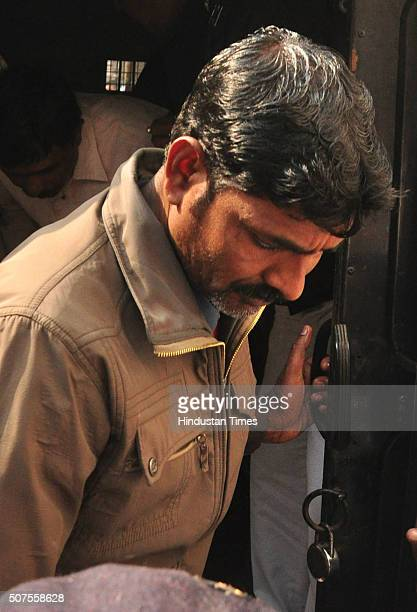 Ansar Ali one of the culprits in 2013 Kamduni gangrape and murder case comes out from prison van after being pronounced guilty at City Session Court...