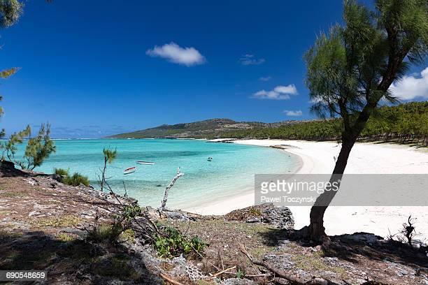 anse ally beach on rodrigues island - islas mauricio fotografías e imágenes de stock