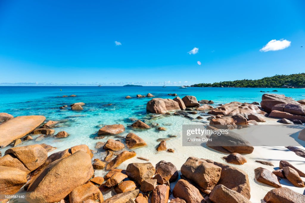 Anse Lazio Beach Praslin Island Seychelles Africa High Res