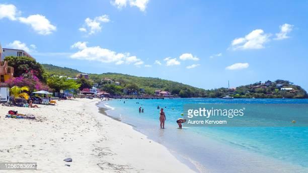 anse mitan, les trois-îles, martinique. - bras de mer caractéristiques côtières photos et images de collection