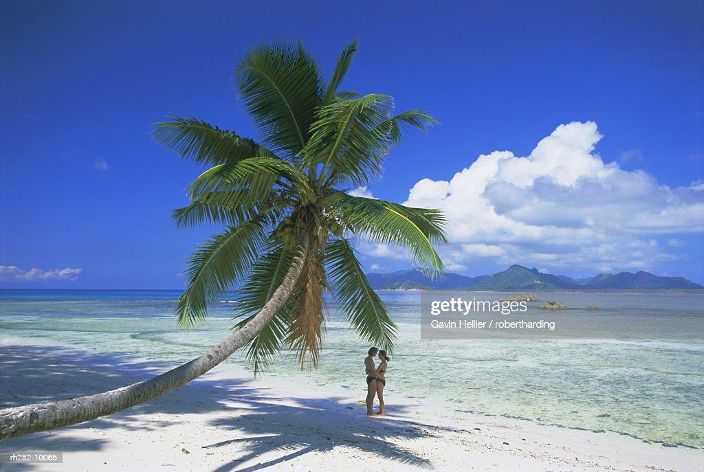 Anse Severe beach, La Digue Island, Seychelles, Indian Ocean, Africa : Foto de stock