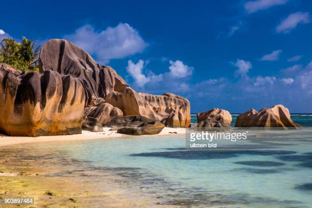 Anse Source d'Argent, La Digue, drittgroesste Insell, Seychellen, Seychelles, SYC, Inselstaat, Africa, Afrika, Suedliches Afrika, Westkueste,...