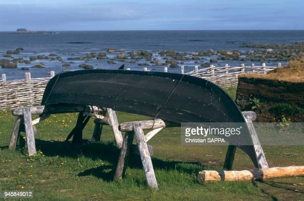 L'AnseauxMeadows se situe la pointe septentrionale de l'le de TerreNeuve dans la province de TerreNeuveetLabrador L' an 1000
