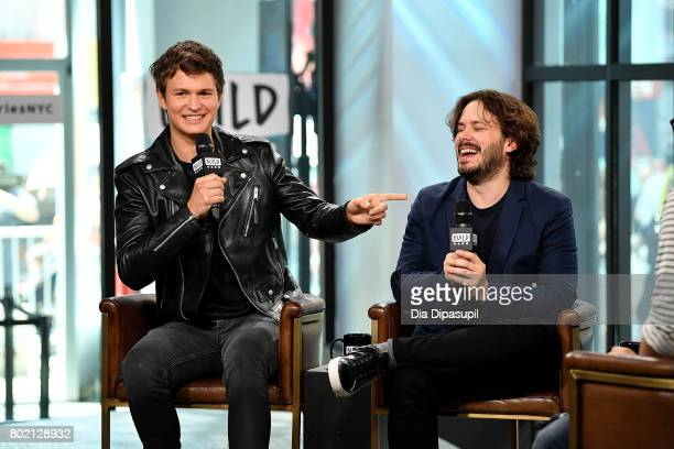 Ansel Elgort and Edgar Wright visit Build to discuss 'Baby Driver' at Build Studio on June 27 2017 in New York City