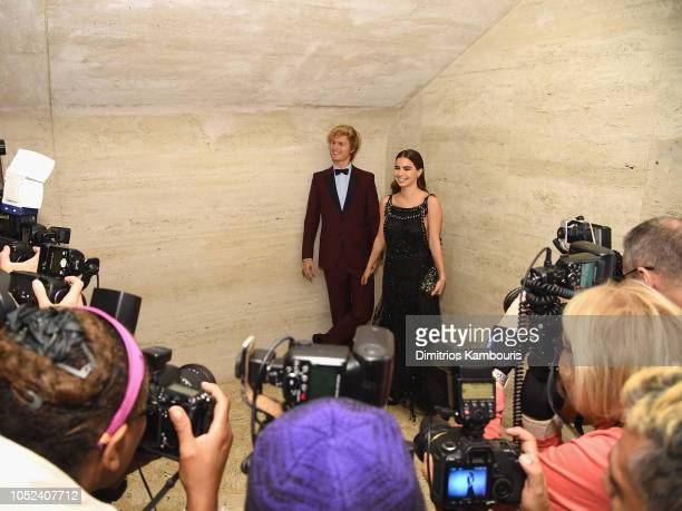 Ansel Elgort and guest attend The American Ballet Theatre 2018 Fall Gala at David H Koch Theater Lincoln Center on October 17 2018 in New York City