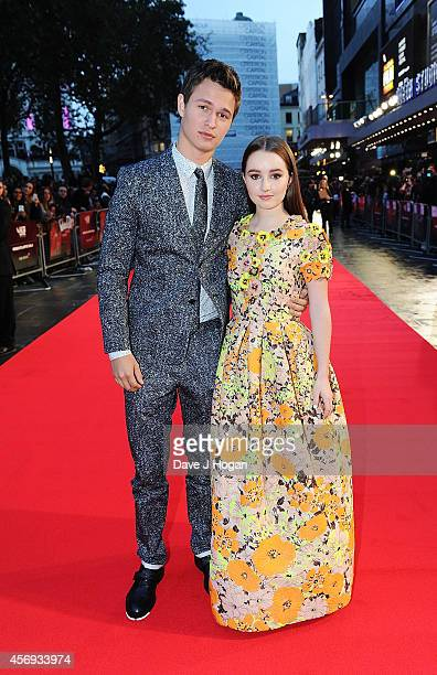 Ansel Elgort and Kaitlyn Dever attend the European Premiere of Paramount Pictures 'Men Women Children' at Odeon Covent Garden on October 9 2014 in...