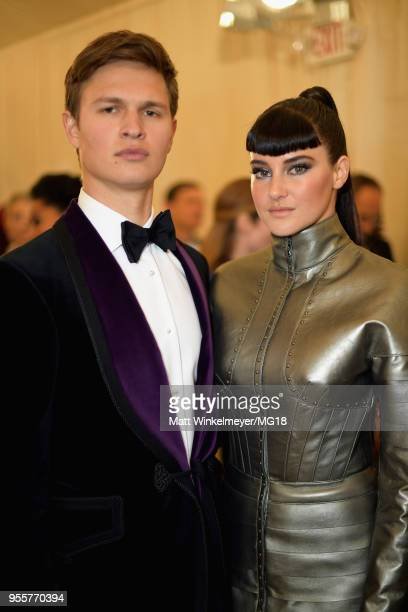 Ansel Elgort and Shailene Woodley attend the Heavenly Bodies Fashion The Catholic Imagination Costume Institute Gala at The Metropolitan Museum of...