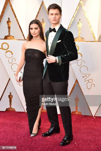 Ansel Elgort and Violetta Komyshan attend the 90th Annual Academy Awards at Hollywood & Highland Center on March 4, 2018 in Hollywood, California.