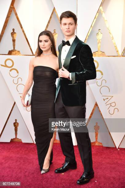 Ansel Elgort and Violetta Komyshan attend the 90th Annual Academy Awards at Hollywood Highland Center on March 4 2018 in Hollywood California