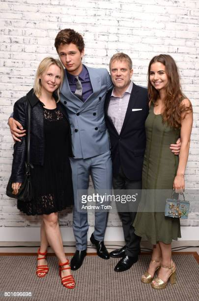 Ansel Elgort and Violetta Komyshan attend the screening after party of 'Baby Driver' hosted by TriStar Pictures and The Cinema Society at The Crown...