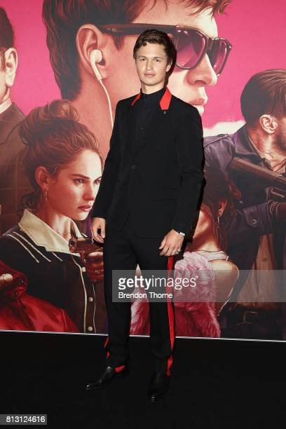 Ansel Elgort arrives ahead of the Baby Driver Australian Premiere at Event Cinemas George Street on July 12 2017 in Sydney Australia