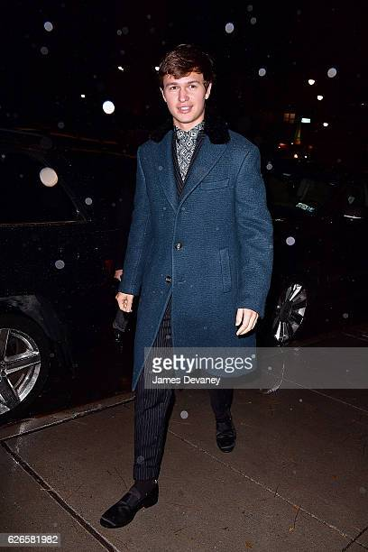 Ansel Elgort arrives to the 30th FN Achievement Awards at IAC Headquarters on November 29 2016 in New York City