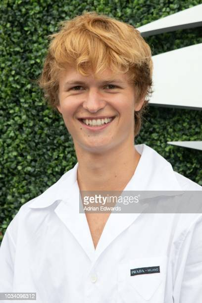 Ansel Elgort at Day 14 of the US Open held at the USTA Tennis Center on September 9, 2018 in New York City.