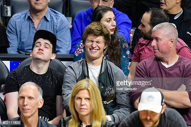 Ansel Elgort attends a basketball game between the Portland Trail Blazers and the Los Angeles Clippers at Staples Center on November 9 2016 in Los...